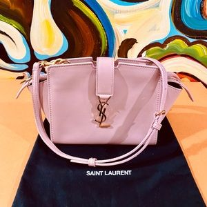 💖💖💖Authentic YSL Pink Calfskin Toy Cabas Bag